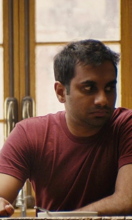 Aziz Ansari with C'N'C' Costume National Solid T-Shirt in Master of None