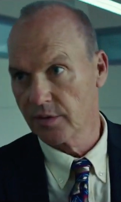 Michael Keaton with Kenneth Cole New York Slim-Fit Notch-Lapel Suit Jacket in American Assassin
