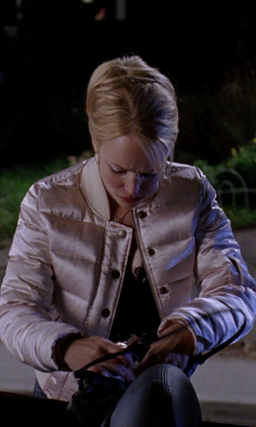 Rachel McAdams with Fay Polka Dot Quilted Jacket in Mean Girls