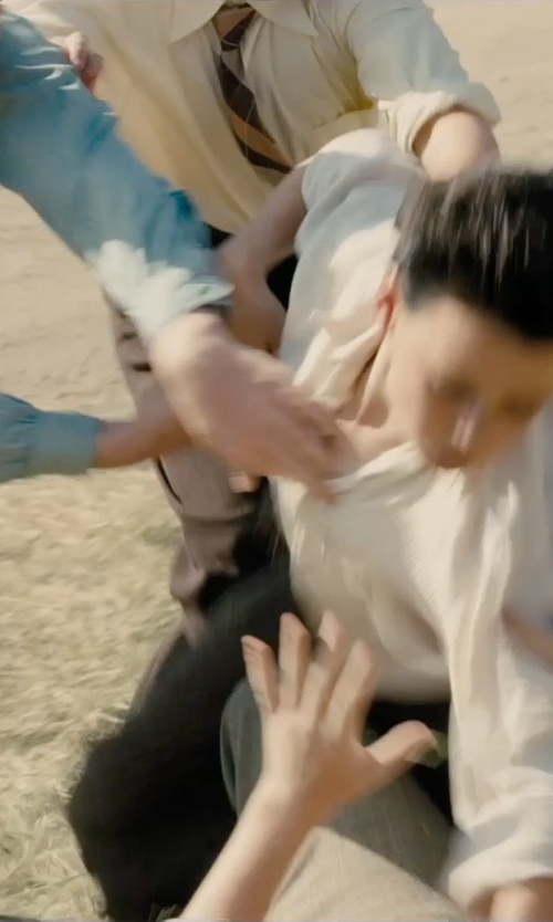 Unknown Actor with Romano Boys Brown Stripe Tie in Unbroken
