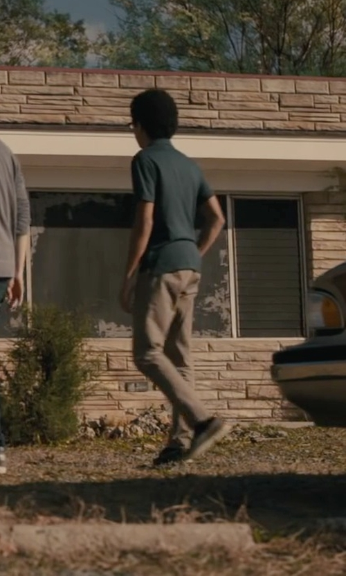 Justice Smith with Jack Spade Men's Dixon Slim-Fit Chino Pant in Paper Towns