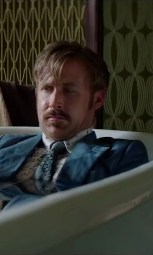 Ryan Gosling with J.Z. Richards Geometric Silk Tie in The Nice Guys