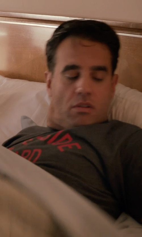 Bobby Cannavale with Maison Kitsuné Je Suis Alle Print T-Shirt in Adult Beginners