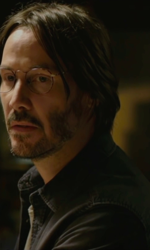 Keanu Reeves with Galliano Denim Shirt in Knock Knock