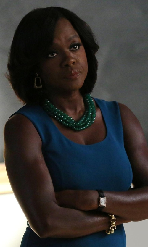 Viola Davis with Kenneth Jay Lane Satin-Finish Large Oval Link Bracelet in How To Get Away With Murder