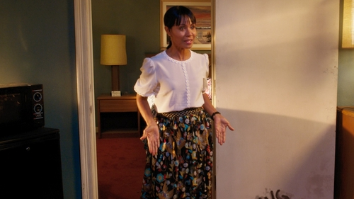 Jada Pinkett Smith with Alice + Olivia Kamryn Embroidered Tulle Maxi Skirt in Girls Trip