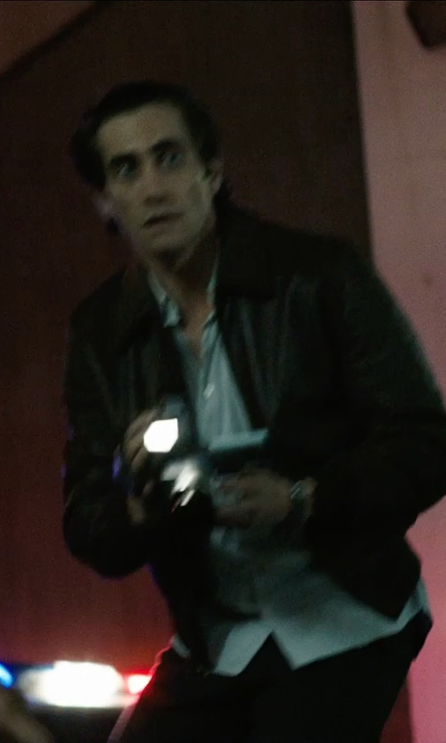 Jake Gyllenhaal with Michael Kors Hipster Leather Jacket in Nightcrawler