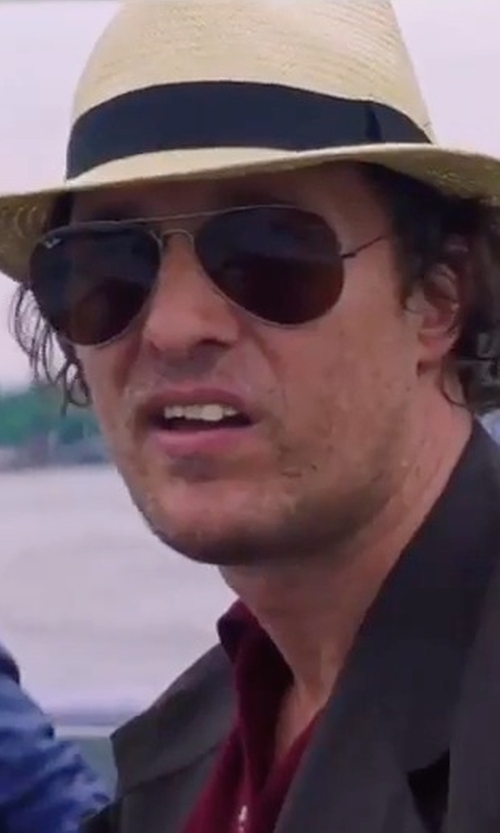 Matthew McConaughey with Barbisio Biscott Hat in Gold