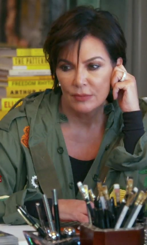 Kris Jenner with AS65 Military Vintage Patch Parka Coat in Keeping Up With The Kardashians