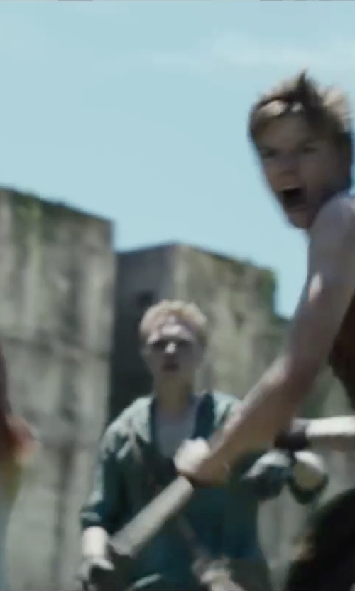 Joe Adler with Calvin Klein Jeans Henley Thermal Top in The Maze Runner