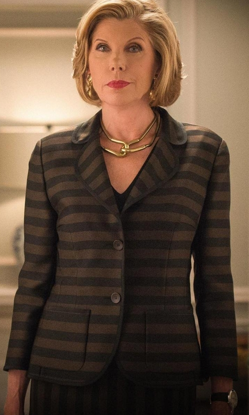 Christine Baranski with Kate Spade New York Embossed Alligator Metro Watch in The Good Wife