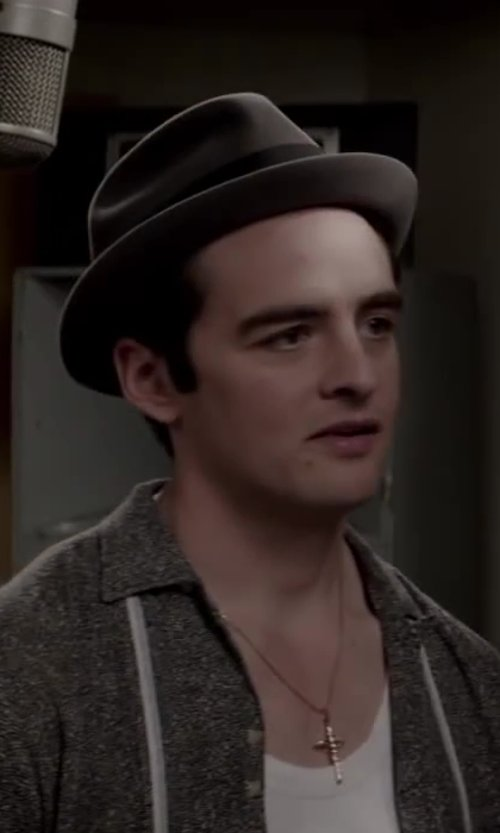 Vincent Piazza with RAG & BONE Wide-Brim Fedora in Jersey Boys