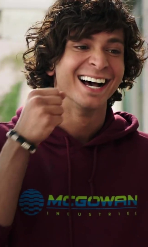 Adam G. Sevani with Forzieri Rubber and Stainless Steel Bracelet in Step Up: All In