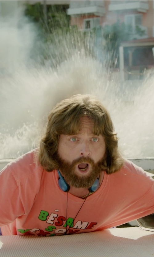 Zach Galifianakis with Urban Outfitters Wheaties T-Shirt in Masterminds