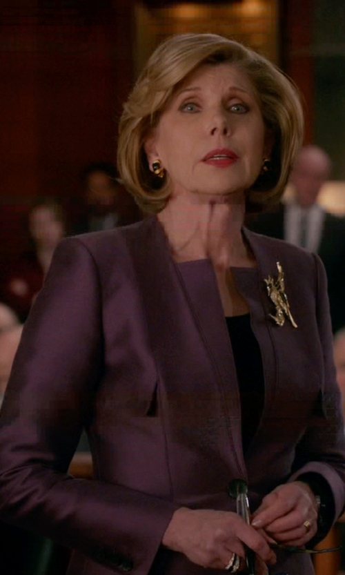 Christine Baranski with Dsquared2 Single Breasted Blazer in The Good Wife