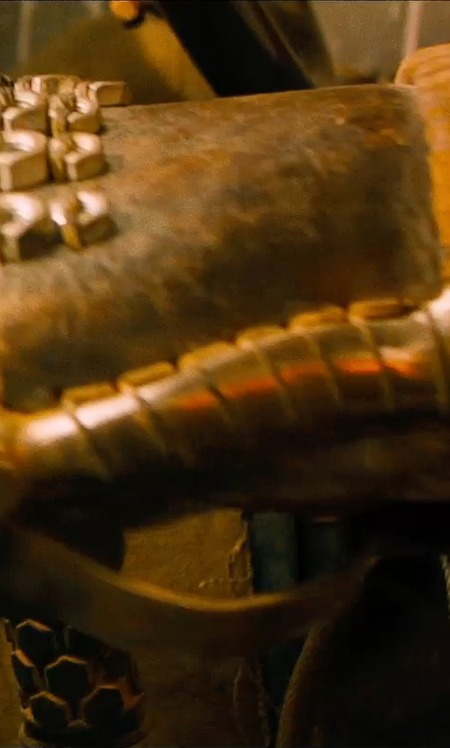 Josh Helman with Jenny Beavan (Costume Desginer) Custom Made Leather Hand Braces (Slit) in Mad Max: Fury Road
