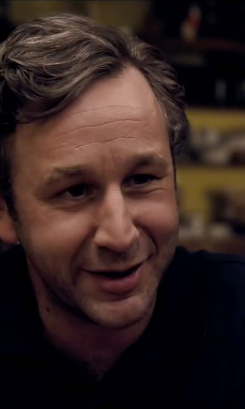 Chris O'Dowd with Comme Des Garçons Play Embroidered Heart Polo Shirt in The Program