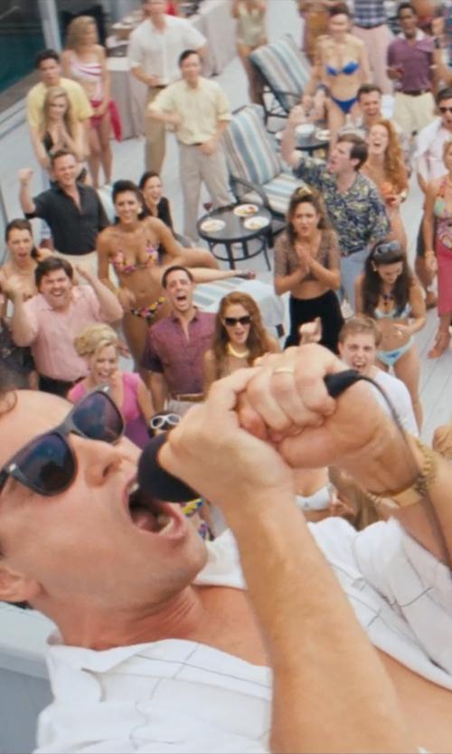 Leonardo DiCaprio with Ray Ban Original Wayfarer  Sunglasses in The Wolf of Wall Street