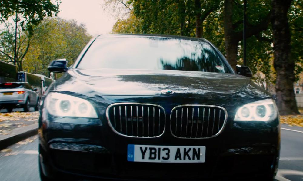 Unknown Actor with BMW 7 Series High Security in Mortdecai