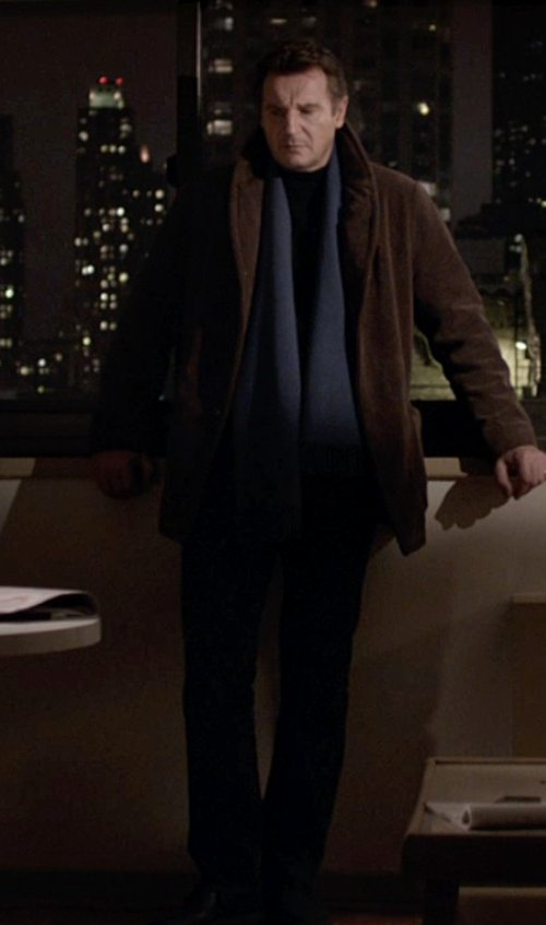 Liam Neeson with Theory Marlo New Tailor Suit Pant in A Walk Among The Tombstones