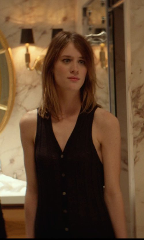 Mackenzie Davis with Tibi Shirt Dress in That Awkward Moment