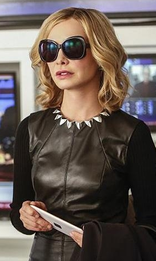 Calista Flockhart with Judith & Charles Bix Dress in Supergirl