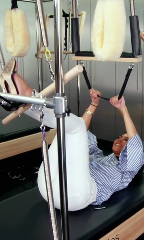 Kourtney Kardashian with Stuart Weitzman Nudist Single Band Sandals in Keeping Up With The Kardashians