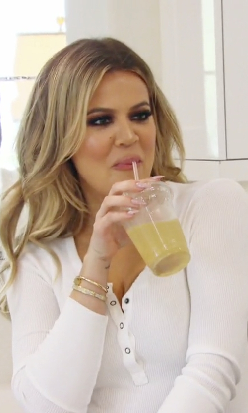 Khloe Kardashian with Splendid Thermal Henley Top in Keeping Up With The Kardashians