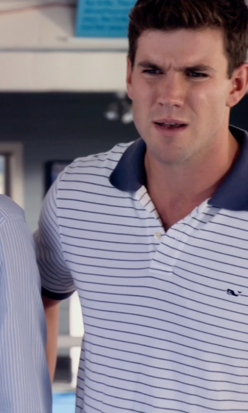 Damon Sementilli with Vineyard Vines Classic Pique Polo-Shep Stripe Shirt in Dolphin Tale 2