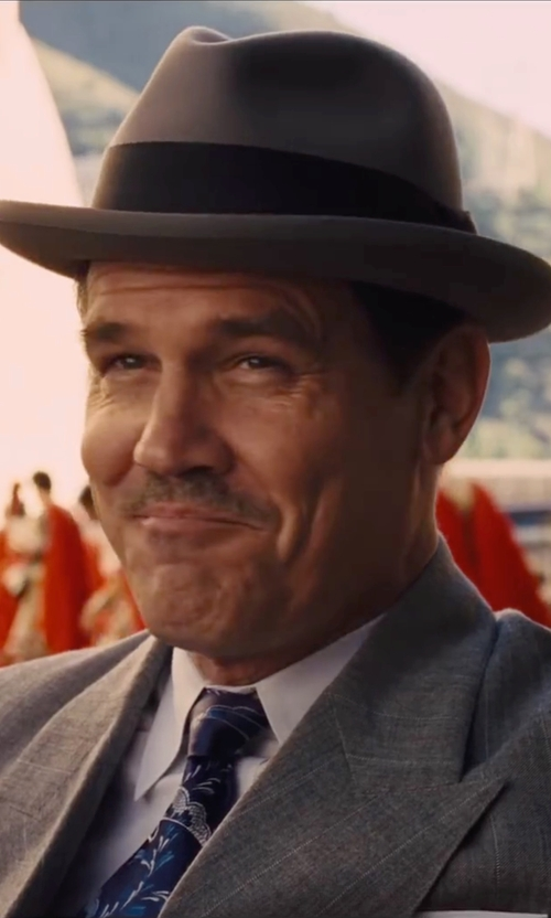 Josh Brolin with Scala 'Classico' Wool Felt Fedora Hat in Hail, Caesar!