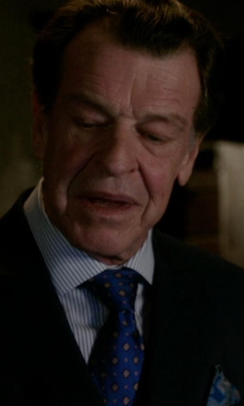 John Noble with Barneys New York Diamond-Print Silk Tie in Elementary