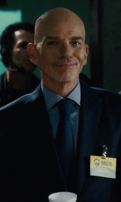 Billy Bob Thornton with Hugo Woven Silk Tie in Our Brand Is Crisis