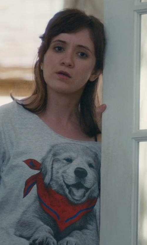 Noël Wells with She Chic Short Sleeve Scarf Dog Print T-Shirt in Master of None