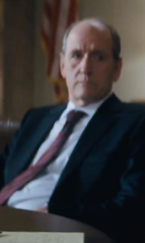 Richard Jenkins with Dolce & Gabbana Long-Sleeve Woven Dress Shirt in Jack Reacher