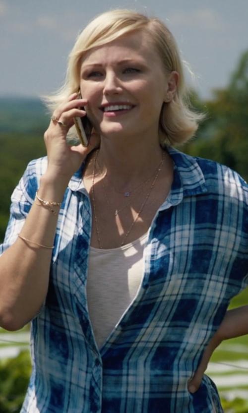 Malin Akerman with Bella Dahl Cloud Plaid Shirt in Billions