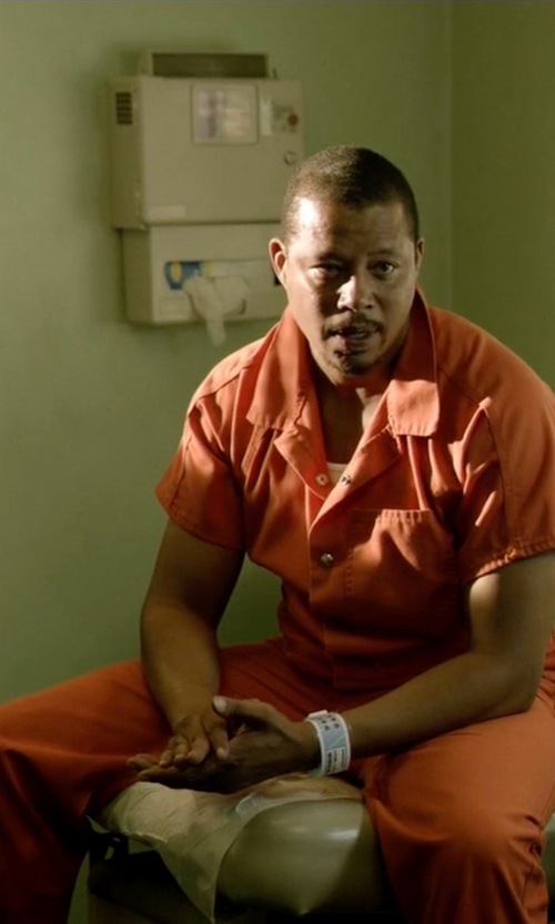 Terrence Howard  with National Textile Short Sleeve Jumpsuit in Empire