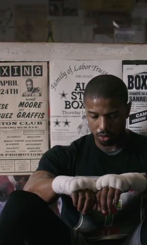 Michael B. Jordan with Under Armour HeatGear Armour Compression Leggings in Creed