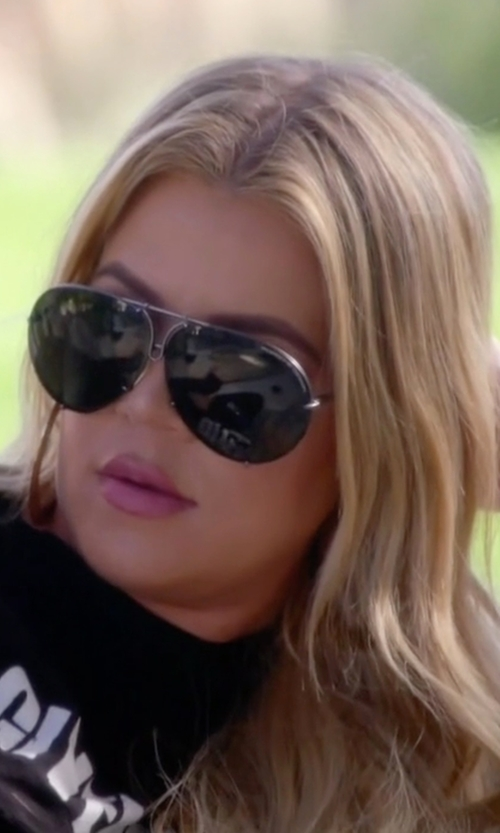 Khloe Kardashian with Porsche Design Aviator Sunglasses in Keeping Up With The Kardashians