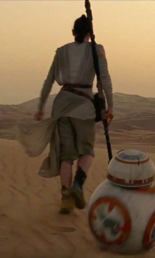 Daisy Ridley with Michael Kaplan (Costume Designer) Custom Made Capri Pants in Star Wars: The Force Awakens