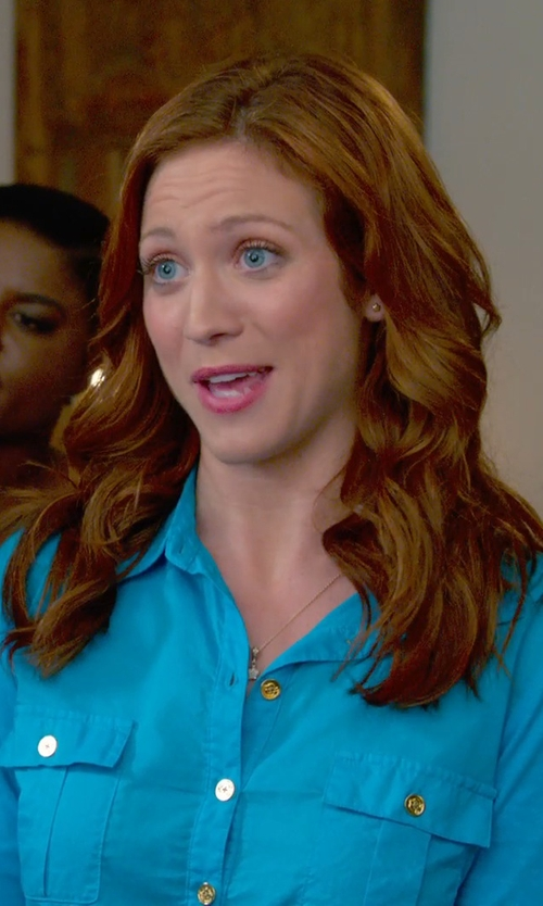 Brittany Snow with Sugar Bean Jewelry Boxed Star Pendant Necklace in Pitch Perfect 2