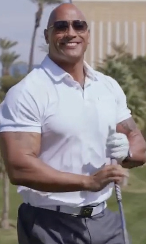 Dwayne Johnson with Under Armour Webbed Belt in Ballers