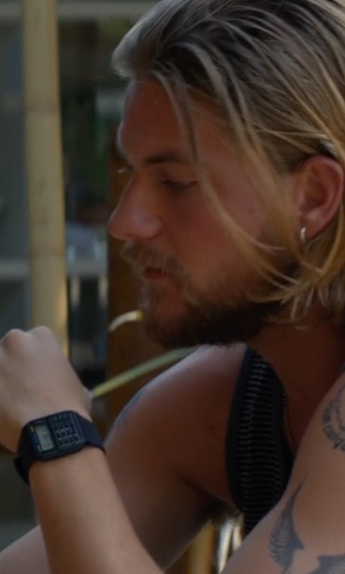 Jake Weary with Casio  CA53W-1 Resintant Digital Watch in Animal Kingdom