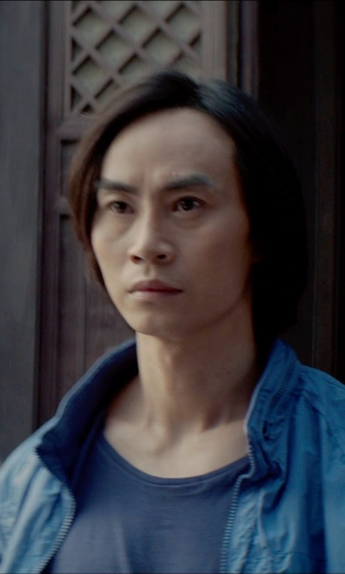 Tiger Hu Chen with Dolce & Gabbana Cotton-Jersey T-Shirt in Man of Tai Chi