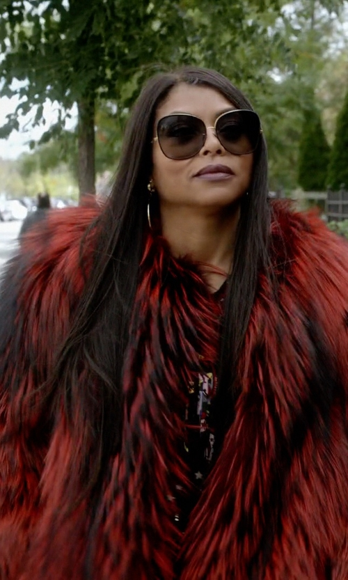 Taraji P. Henson with Georgine FW15 Fur Coat in Empire