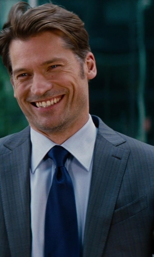 Nikolaj Coster-Waldau with Tom Ford Made To Measure Stripe Wool Suit in The Other Woman
