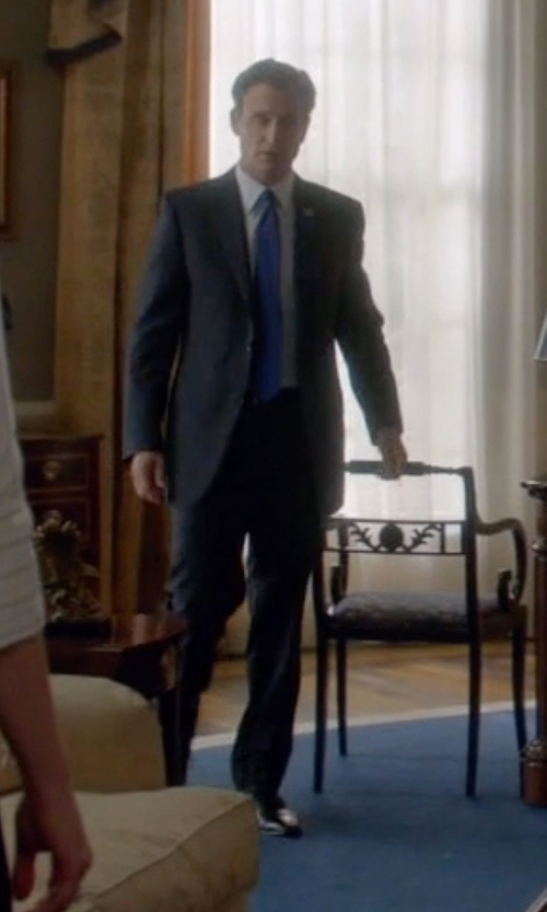 Tony Goldwyn with Salvatore Ferragamo Fedele Lace-Up Oxford Shoes in Scandal