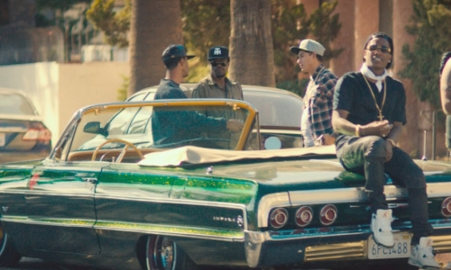 ASAP Rocky with Chevrolet 1964 Impala SS Convertible Car in Dope
