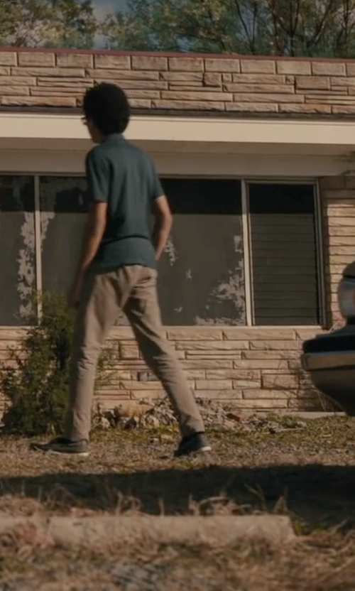 Justice Smith with Cole Haan Pinch Weekender Casual Penny Loafers in Paper Towns