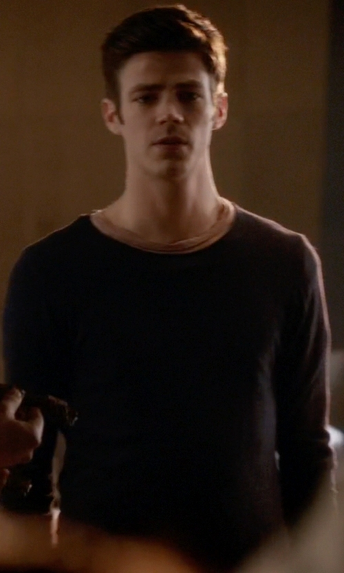 Grant Gustin with Laneus Crew Neck Sweater in The Flash
