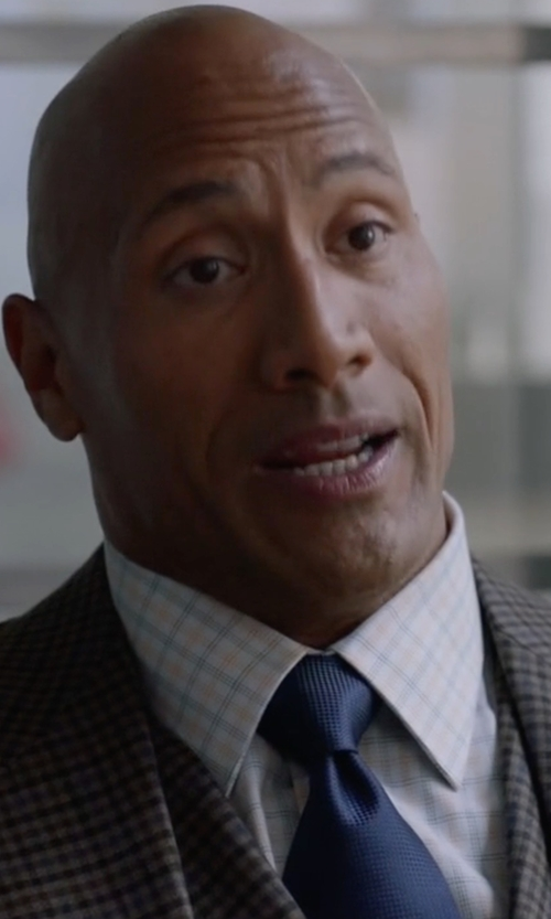 Dwayne Johnson with English Laundry Plaid Three-Piece Suit in Ballers